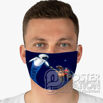 Wall E Custom Fabric Face Mask Fashionable Two Layer Polyester