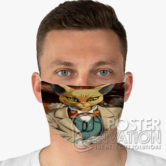 Whisper of The Heart Baron Custom Fabric Face Mask Fashionable Two Layer Polyester