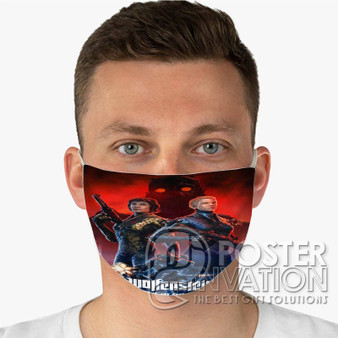 Wolfenstein Youngblood Custom Fabric Face Mask Fashionable Two Layer Polyester