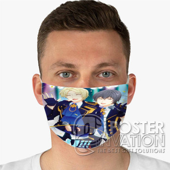 Yuri on Ice Feel The Love Custom Fabric Face Mask Fashionable Two Layer Polyester