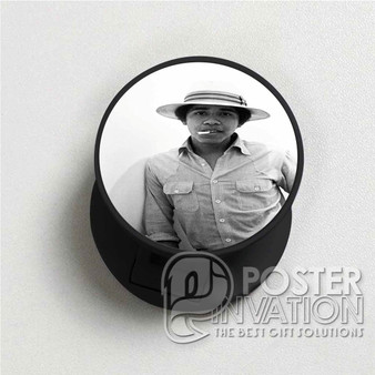Young Obama SMoke Custom Folding Phone Holder Pop Up Stand Out Grip