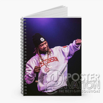 Fetty Wap Rapper Custom Spiral Notebook Ruled Line Front Cover Book Case Perfect Gift