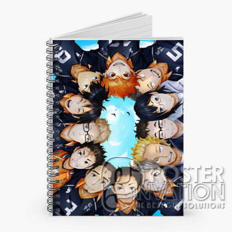 Haikyuu Custom Spiral Notebook Ruled Line Front Cover Book Case Perfect Gift