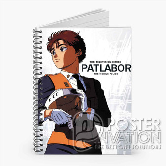 Patlabor The Mobile Police Custom Spiral Notebook Ruled Line Front Cover Book Case Perfect Gift