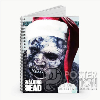The Walking Dead Christmas Custom Spiral Notebook Ruled Line Front Cover Book Case Perfect Gift
