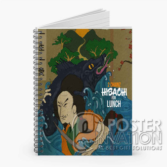 Tity Boi 2 Chainz Hibachi for Lunch Custom Spiral Notebook Ruled Line Front Cover Book Case Perfect Gift