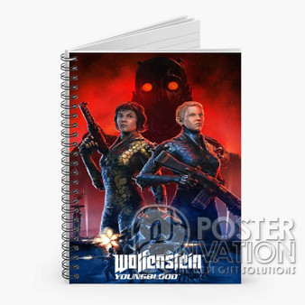 Wolfenstein Youngblood Custom Spiral Notebook Ruled Line Front Cover Book Case Perfect Gift