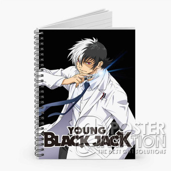 Young Black Jack Custom Spiral Notebook Ruled Line Front Cover Book Case Perfect Gift