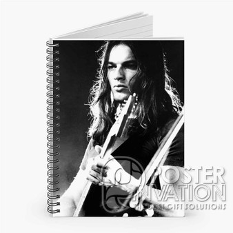 Young David Gilmour Custom Spiral Notebook Ruled Line Front Cover Book Case Perfect Gift