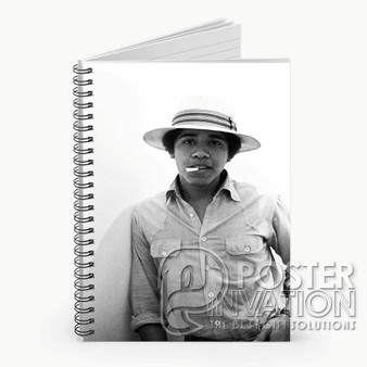 Young Obama SMoke Custom Spiral Notebook Ruled Line Front Cover Book Case Perfect Gift
