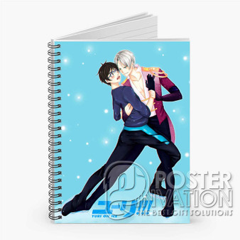Yuri on Ice Victuri Custom Spiral Notebook Ruled Line Front Cover Book Case Perfect Gift