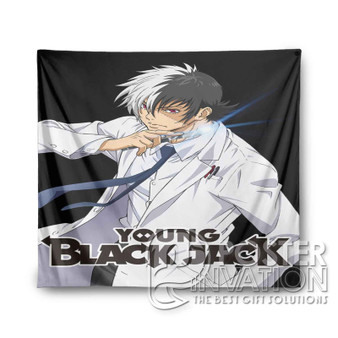 Young Black Jack Custom Tapestry Wall Decor Art Hanging Tapestries Home Decoration Scandinavian Style Monochrome