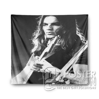 Young David Gilmour Custom Tapestry Wall Decor Art Hanging Tapestries Home Decoration Scandinavian Style Monochrome