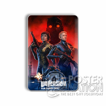 Wolfenstein Youngblood Custom Magnet Refrigerator Home Decor 2 x 3 Inch Perfect Gift
