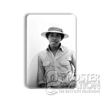 Young Obama SMoke Custom Magnet Refrigerator Home Decor 2 x 3 Inch Perfect Gift