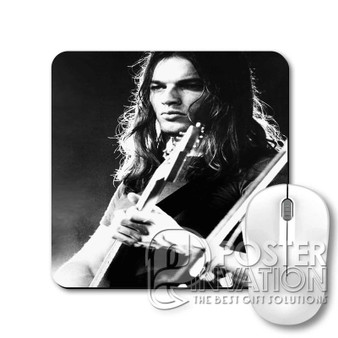 Young David Gilmour Custom Gaming Mouse Pad Desk PC Laptop Game Keyboard Pad Perfect Gift
