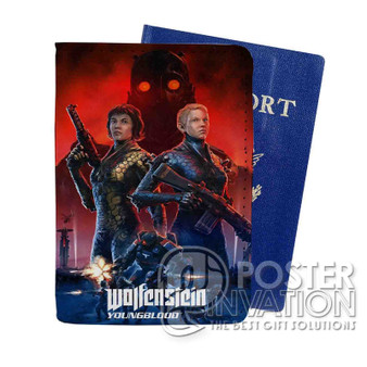 Wolfenstein Youngblood Custom Passport PU Leather Holder Case Wallet Cover Card Slot Travel Perfect Gift