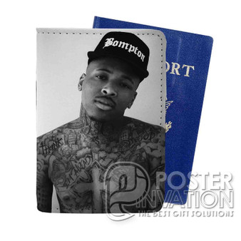 YG Rapper Custom Passport PU Leather Holder Case Wallet Cover Card Slot Travel Perfect Gift