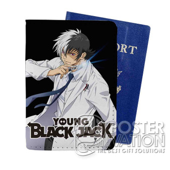 Young Black Jack Custom Passport PU Leather Holder Case Wallet Cover Card Slot Travel Perfect Gift