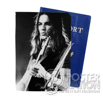 Young David Gilmour Custom Passport PU Leather Holder Case Wallet Cover Card Slot Travel Perfect Gift