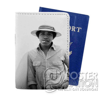 Young Obama SMoke Custom Passport PU Leather Holder Case Wallet Cover Card Slot Travel Perfect Gift