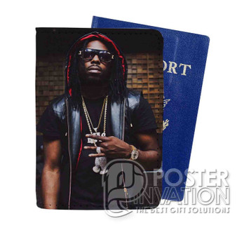 Young Thug Custom Passport PU Leather Holder Case Wallet Cover Card Slot Travel Perfect Gift
