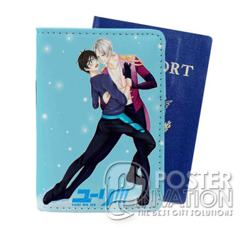 Yuri on Ice Victuri Custom Passport PU Leather Holder Case Wallet Cover Card Slot Travel Perfect Gift
