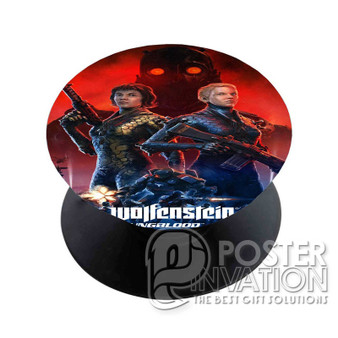 Wolfenstein Youngblood Custom Phone Holder Pop Up Stand Out Mount Grip Standing Pods Perfect Gift