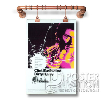 dirty harry poster Custom Art Silk Poster Wall Decor 20 x 13 Inch 24 x 36 Inch Home Living Decoration