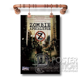 zombie movie poster Custom Art Silk Poster Wall Decor 20 x 13 Inch 24 x 36 Inch Home Living Decoration