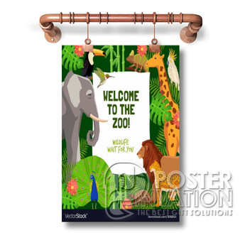 zoo poster Custom Art Silk Poster Wall Decor 20 x 13 Inch 24 x 36 Inch Home Living Decoration
