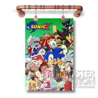 Sonic X Custom Art Silk Poster Wall Decor 20 x 13 Inch 24 x 36 Inch