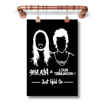 Steve Aoki and Louis Tomlinson Custom Art Silk Poster Wall Decor 20 x 13 Inch 24 x 36 Inch
