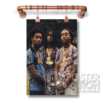 Migos New Custom Art Silk Poster Wall Decor 20 x 13 Inch 24 x 36 Inch