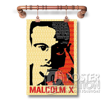 Malcolm X Custom Art Silk Poster Wall Decor 20 x 13 Inch 24 x 36 Inch