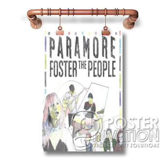 Paramore Foster The People Custom Art Silk Poster Wall Decor 20 x 13 Inch 24 x 36 Inch