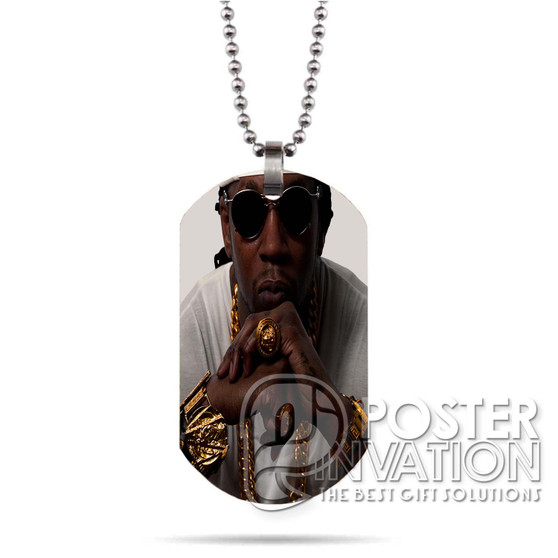 2 Chainz Custom Stainless Steel Military Dog Tag Necklace Pendant
