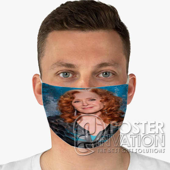 Bonnie Raitt Custom Fabric Face Mask Fashionable Two Layer Polyester