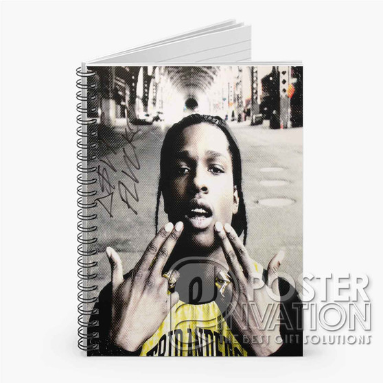 A ap Rocky 2 Custom Spiral Notebook Ruled Line Front Cover Book Case Perfect Gift