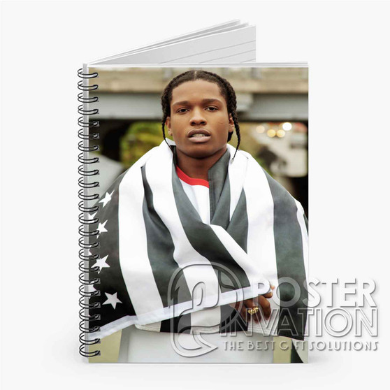 A ap Rocky Custom Spiral Notebook Ruled Line Front Cover Book Case Perfect Gift