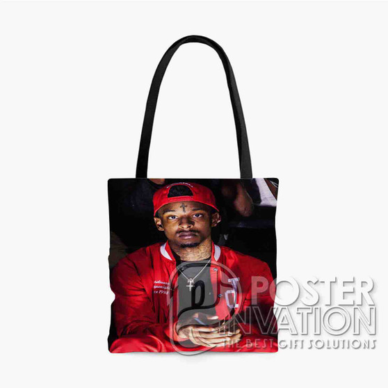 21 Savage Rapper Custom Tote Bag AOP Polyester S M L Comfort Fashionable Totebags Unisex Stylish Bag Perfect Gift