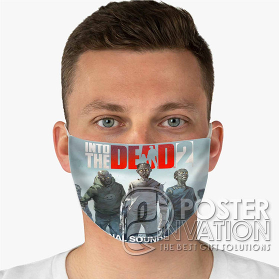 Into the Dead 2 Custom Fabric Face Mask Fashionable Two Layer Polyester