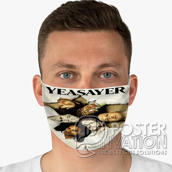 Yeasayer Custom Fabric Face Mask Fashionable Two Layer Polyester