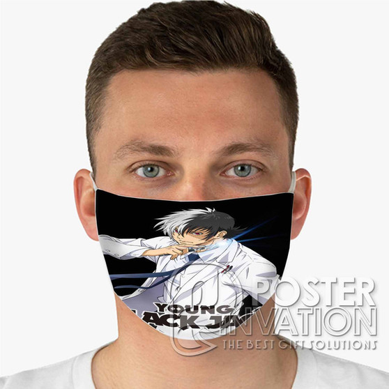 Young Black Jack Custom Fabric Face Mask Fashionable Two Layer Polyester