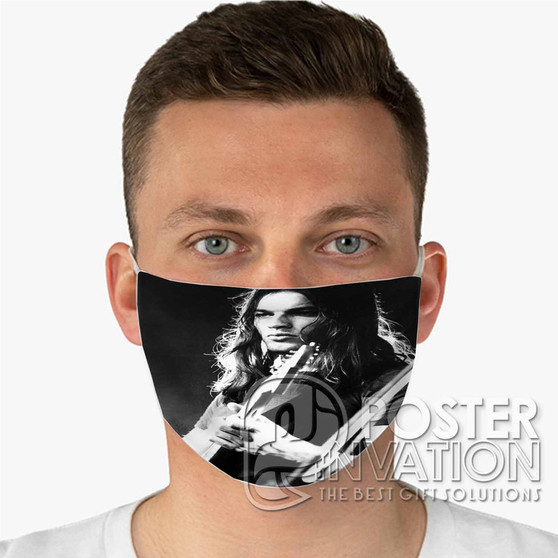 Young David Gilmour Custom Fabric Face Mask Fashionable Two Layer Polyester