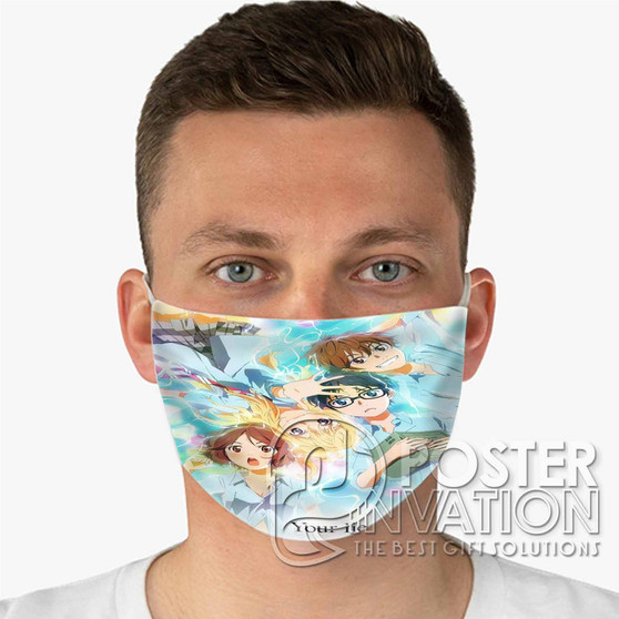 Your Lie in APril Custom Fabric Face Mask Fashionable Two Layer Polyester