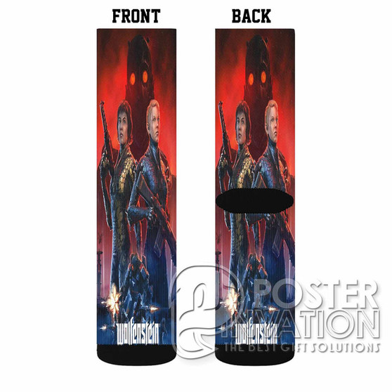 Wolfenstein Youngblood Custom Socks Sublimation Sports Game Sporting Goods Perfect Gift