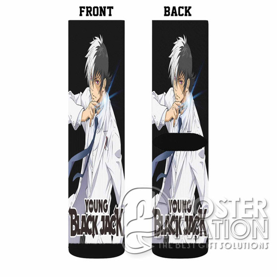 Young Black Jack Custom Socks Sublimation Sports Game Sporting Goods Perfect Gift