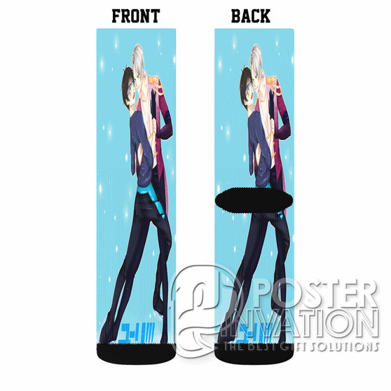 Yuri on Ice Victuri Custom Socks Sublimation Sports Game Sporting Goods Perfect Gift