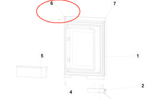 Norcold Refrigerator Door 619030 (fits the N300/ N305) - beige ... on